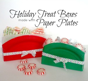 sc 1 st  Almost The Real Thing & Holiday Treat Boxes from Paper Plates - Almost The Real Thing