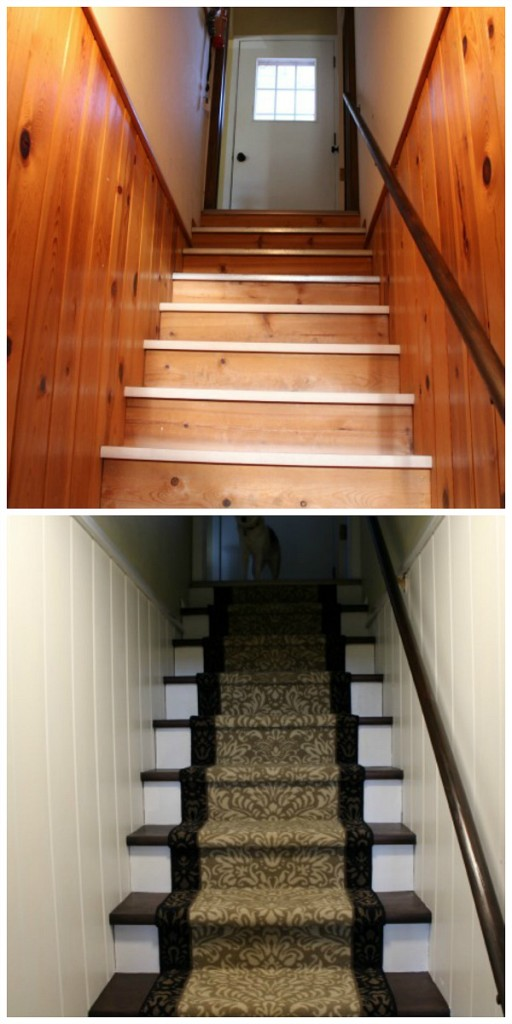 Lighting Basement Washroom Stairs: Basement Stairs Makeover